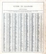 Illinois - Guide 1, United States 1885 Atlas of Central and Midwestern States